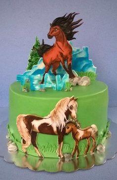 Nice looking cake! Horse Birthday Parties, Cowgirl Birthday, Birthday Cake, Beautiful Cakes, Amazing Cakes, Cake Paris, Western Cakes, Farm Cake, Horse Cake