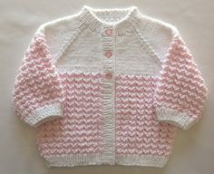 Pink Baby Sweater Set Girl Hand Knit by SticksNStonesGifts on Etsy