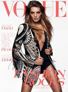Daria Werbowy by Daniel Jackson Vogue Australia June 2012