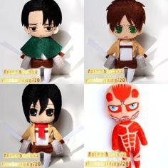 Anime Attack on Titan Mikasa Ackerman Cute Plush Handmade Doll Keyring Keychain Felt Crafts, Diy And Crafts, Dolls And Daydreams, Anime Crafts, Anime Dolls, Cute Plush, Handmade Felt, Felt Toys, Felt Ornaments