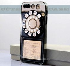Vintage - Payphone - iPhone 4/4S Case - iPhone 5 Case - Samsung Galaxy S3 case - Samsung Galaxy S4 case