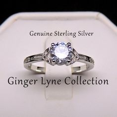 Nala, Gorgeous Engagement Wedding Ring Solid 925 Sterling Silver