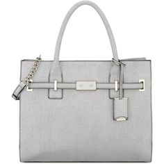 Nine West Internal Affairs Large Tote ($68) ❤ liked on Polyvore featuring bags, handbags, tote bags, white tote, structured handbag, structured tote bag, white handbags and nine west purses