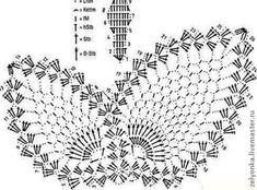 MENTŐÖTLET - kreáció, újrahasznosítás: Horgolt angyal Crochet Chart, Crochet Motif, Crochet Patterns, Crochet Butterfly, Crochet Flowers, Borboleta Crochet, Voucher, Crochet Angels, Crochet Ornaments