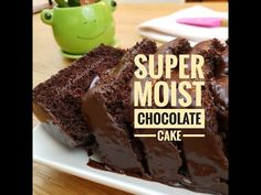 Super moist cake from scratch with creamy chocolate frosting. Soft Moist Chocolate Cake, Chocolate Cake From Scratch, Amazing Chocolate Cake Recipe, Chocolate Frosting, Delicious Chocolate, Homemade Cake Recipes, Baking Recipes, Moist Cakes, Cake Ingredients
