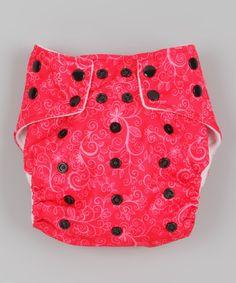 Loving this ROYAL FLUFF Pink Swirly Pocket Diaper on #zulily! #zulilyfinds