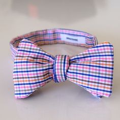 pink harvey bow tie by edward kwan