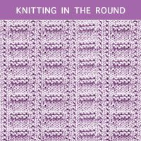 How to knit the Ladder stitch in the round. Using Knit and Purl. Cast on a multiple of 10 stitches. Beginner Knitting Patterns, Knitting For Beginners, Loom Knitting, Knit Patterns, Stitch Patterns, Free Knitting, Baby Knitting, Knitted Washcloth Patterns, Knit Purl Stitches