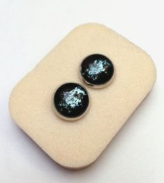 Hand painted Milky Way Earrings Galaxy earrings by GalaxyIllusion