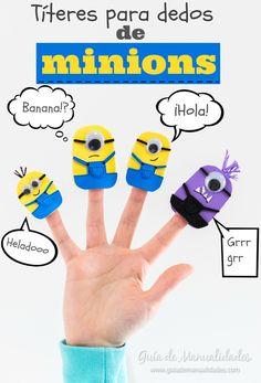 Los peques se van a enamorar de esta idea! Te muestro cómo puedes hacer sus personajes favoritos de los Minions en títeres de dedos! A divertise creando!