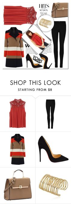 """Yoins 17"" by mini-kitty ❤ liked on Polyvore featuring Karen Millen, Christian Louboutin and yoins"