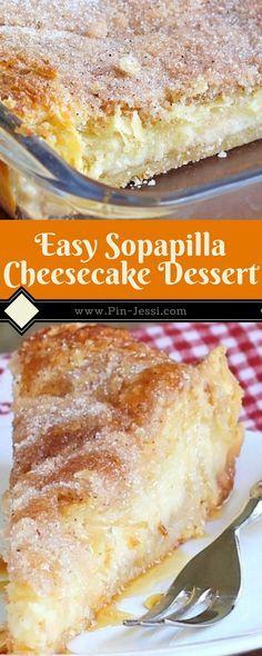 Easy Sopapilla Cheesecake Dessert Recipe - Pin-Jessi y Postres Oreo Dessert, Coconut Dessert, Bon Dessert, Brownie Desserts, Dessert Dips, Cheesecake Desserts, Mini Desserts, Just Desserts, Easy Cheesecake Recipes