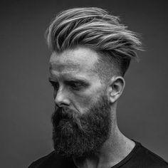 Messy Pomp + Undercut + Full Beard