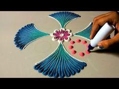 My Top 5 rangoli for Diwali and other festivals - YoutopTube Rangoli Designs Simple Diwali, Simple Flower Rangoli, Happy Diwali Rangoli, Diwali Special Rangoli Design, Rangoli Designs Latest, Rangoli Designs Flower, Small Rangoli Design, Colorful Rangoli Designs, Diwali Craft
