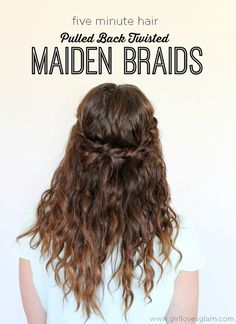 Keep it simple with these easy maiden braids. | 17 Incredibly Pretty Styles For Naturally Curly Hair