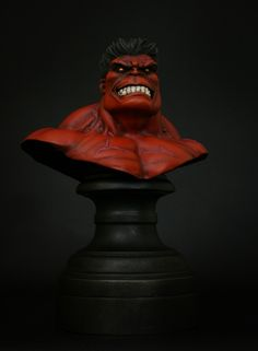 Hulk Red mini-bust  Sculpted by: Randy Bowen    Release Date: August 2011  Edition Size: 700  Order Of Release: Phase V (bust #276)