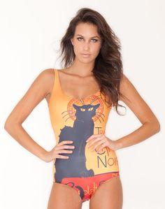 le chat noir swimsuit by black milk clothing, $85.00