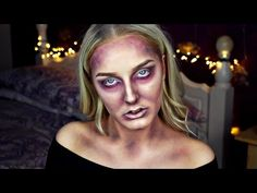 Halloween Zombie Makeup Tutorial | Emily Alison - http://47beauty.com/halloween-zombie-makeup-tutorial-emily-alison/   Easy Zombie Ghost Scary Creepy Dead Girl Halloween Makeup Tutorial (No SFX, no special effects) Halloween Series: Zombie Makeup Tutorial Easy Without Latex Or SFX – Walking Dead Zombie Makeup My Other Halloween Tutorials: Pumpkin Makeup Tutorial: https://youtu.be/ID5SgZDGJcU Deer Makeup Tutorial: https://youtu.be/UFo29FiBCAw Subscribe here: http:/