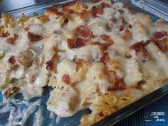 CHICKEN BACON RANCH casserole, I will be subbing my gf pasta for a yummy Gluten free dinner!