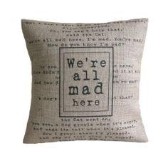 Alice in Wonderland pillow (: