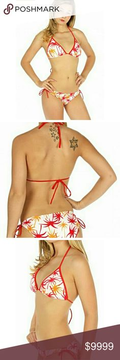 Sexy Sassy Palm Tree String Bikini ??COMING SOON! This super comfortable bikini has a flirty bright design with adjustable strings for a perfect fit. A must have for summer fun! Swim Bikinis