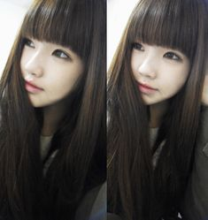 I love their hair! Kawaii Hairstyles, Cute Hairstyles, Ulzzang Fashion, Ulzzang Girl, Natural Hair Styles, Long Hair Styles, Asian Cute, Best Face Products, About Hair
