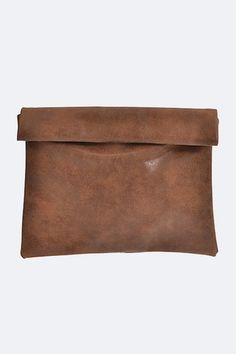 Distressed Faux Leather Rolled Up Clutch #clutch #fashion