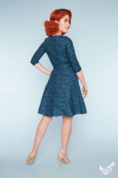 Mitzi Dress in Navy. Adorable!