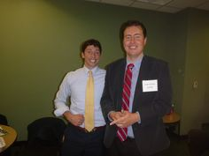 #Lawyer Evan Guthrie with Matthew Pecoy of McGrath Law Firm at Evan Guthrie Law Firm at the South Carolina Bar Middle School Mock Trial Competition Lowcountry Regional at North Charleston City Hall in North Charleston, SC on Saturday November 15, 2014