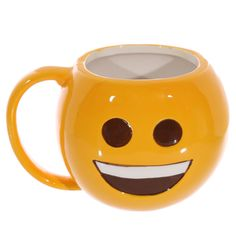 #fun #emoticon PRICE £5.49 One of our Emoticon products, a sleeping emoticon ceramic mug, Dimensions: Height 9.5cm Width 14.5cm Depth 10cm. We've more emoticon products on our site :)
