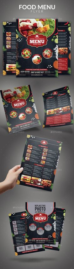 #Food Menu #Flyer - Food Menus Print Templates