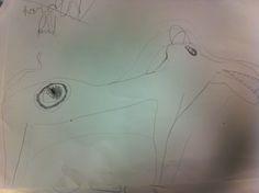 ABK Mortsel - tekening hond met vlek