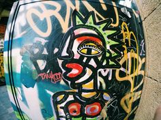 The Gothic Quarter Barcelona Street, Aztec, Stencils, Graffiti, Street Art, Gothic, Abstract, Face, Summary