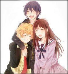 Yato, Yukine, and Hiyori - Noragami