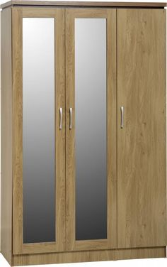 The Charles Bedroom range is a complete range, finished in an attractive oak veneer with a walnut trim - http://www.furn-on.com/charles-door-hanging-wardrobe-p-116250.html