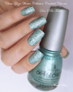 colourful inspiration: China Glaze Winter 2014 Collection Crinkled Chrome...