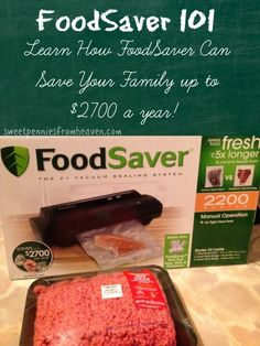 Learn how FoodSaver can help your family save money on food! You can save up to $2700 per year! No more freezer burnt foods and NO more waste!! Your meats and produce will last up to 5 X LONGER!!