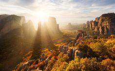 20 Maravillosos Atardeceres En Imágenes  METEORA,  GRECIA