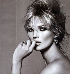 Kate Moss (2007). Born January 16, 1974 in London, England, is a famous model known for her waifish figure and being the face of Calvin Klein in the mid-1990s
