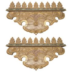 Venetian Gilded and Painted Fragments | From a unique collection of antique and modern architectural elements at https://www.1stdibs.com/furniture/building-garden/architectural-elements/