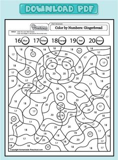 related pictures gingerbread man color by numbers