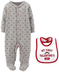 Carter's Baby Boys' 2 Piece Valentine's Footie/Bib Set (Baby) - Gray - Newborn Carter's http://www.amazon.com/dp/B00RKNQ5V8/ref=cm_sw_r_pi_dp_zfTgwb0RGBB41