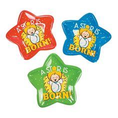 Happy Birthday Jesus Star Plates