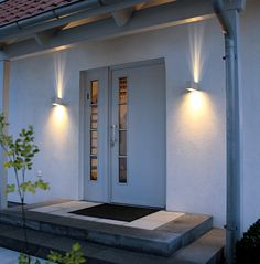 Exterior, Eg Tabo Light Fixture Style Tabo Modern Silver Outdoor Led Wall Washer Trough Light Square Canister Lamps For Front Entry Door Mid Century Modern Exterior Lighting Concrete Tile Patio Steps Metal Door: Exterior Lighting Fixtures Wall Mount for Modern House