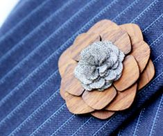 Fancy up your formal wear with a touch of style provided by the wooden lapel flower. This distinguished lapel flower is made from rich, quality rosewood and is...