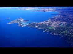Vol au dessus des îles - Vue du ciel, la côte d'azur,Marseille et autres...