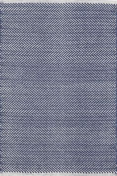 Dash & Albert | Herringbone Indigo Woven Cotton Rug | You asked, and we listened! Another terrific Dash & Albert lightweight woven cotton area rug, this time in a classic herringbone pattern.