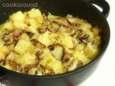 Porcini e patate al forno insieme al parmigiano un piatto semplice e gustoso!!
