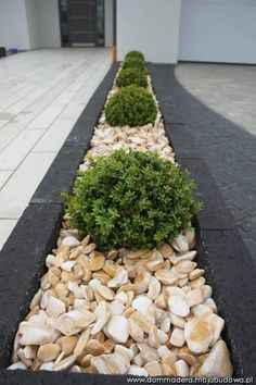If you are looking for the best garden design, you have come to the right place. Front Garden Ideas Driveway, Driveway Landscaping, Landscaping With Rocks, Back Garden Design, Garden Landscape Design, Back Gardens, Outdoor Gardens, House Plants Decor, Stone Driveway