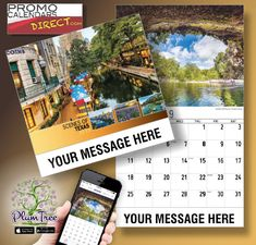 2021 Texas Scenic Wall Calendars low as Imprinted for Business Advertising. Promote your business name, logo and ad message all year! Wall Calendars, Promotion, Texas, Hands, Messages, App, Marketing, Logo, Business